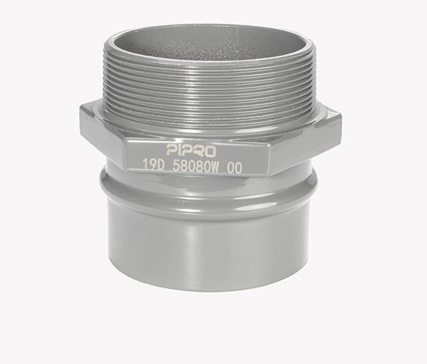 PIPRO铝合金超级管道外螺纹接头B